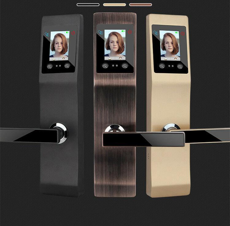 Nuevo envase, nuevo reconocimiento de caras, cerradura inteligente, contraseña avanzada huella de la palma, puerta de seguridad, bloqueo de apartamentos, de varios colores opcionales