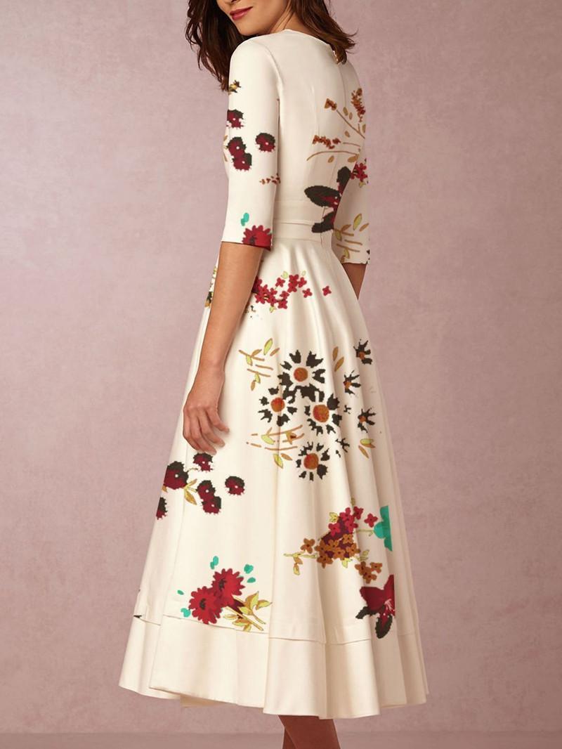 Abito moda-donna plus size xxxl Abito da festa con scollo a V floreale bohemien Abiti da donna vintage elegante abbigliamento estivo