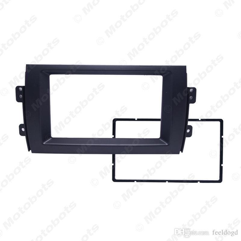 Auto 2DIN Refitting Radio Stereo DVD frame kit di montaggio fascia del pannello del precipitare per Suzuki SX4 (07 ~ 10) # 2214
