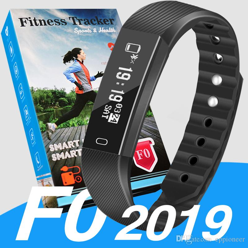 2019 ID115 F0 for Smart Bracelet watch Fitness Tracker Step Counter Activity Monitor Band Vibration Wristband pk m3