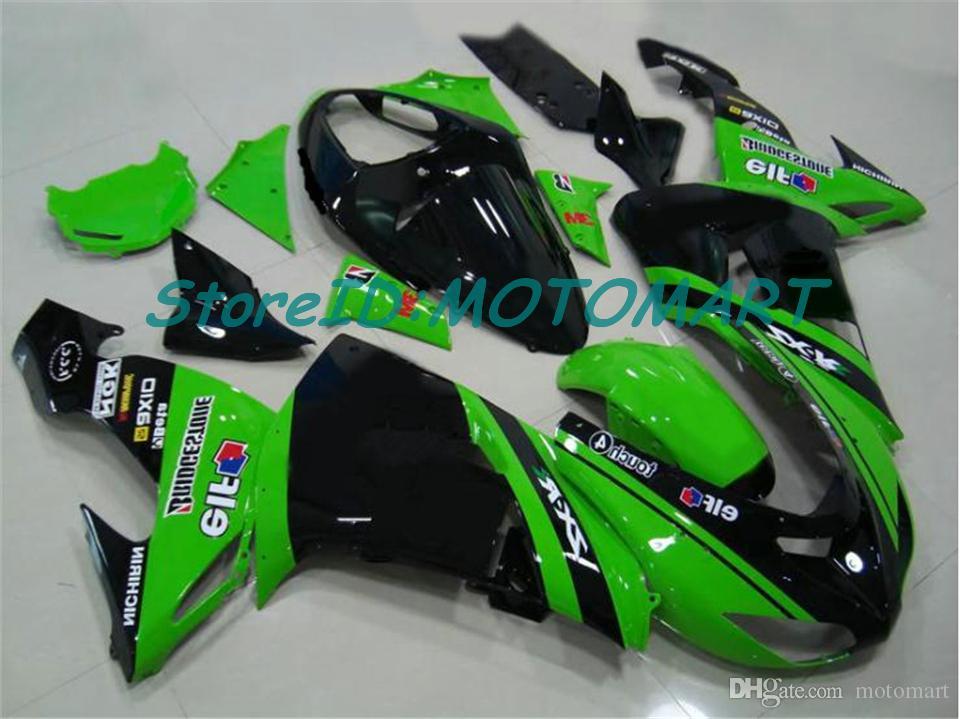 Carrozzeria Kawasaki Ninja ZX 10 R ZX10R 06 07 ZX 10R 06-07 ZX10R 2006 2007 carenatura kit KM40