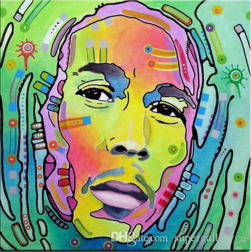Bob Marley Yağlıboya Tuval Ev Dekor Duvar Sanatı Resim Handpainted HD Baskılı Pop Art Reggae Yıldız Portre Müzik