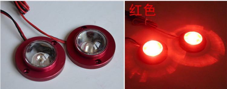KUNFINE 2 en 1 lampe décoration voiture lampe flash voiture LED Strobe lumière LED Light Flash Options de quatre couleurs