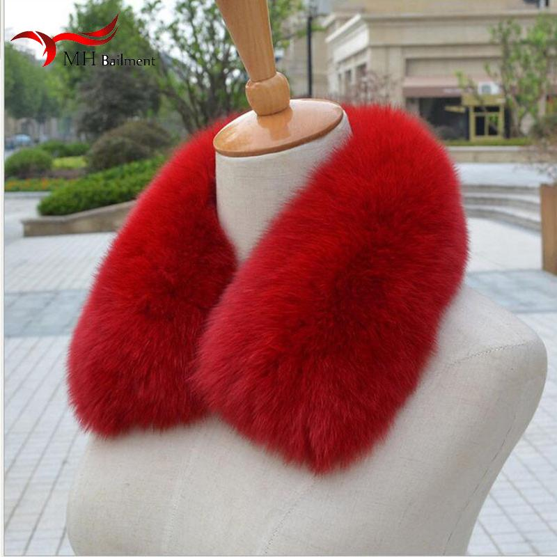 Real fox Fur Collar Scarf Womens Shawl Wraps Shrug Neck Warmer Black Stole Wholesale Hot sale Ring Scarf Womens L#11 D19011003