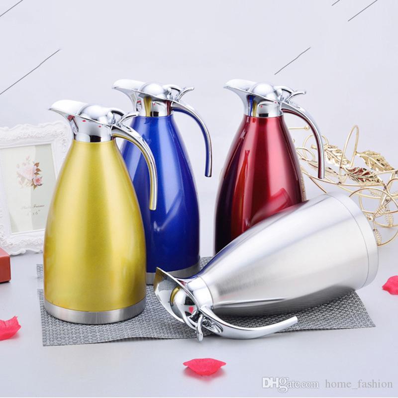 Doppelwandige Vakuumthermoskanne Topf Tasse 2000 ml Große Kapazität Kaffeekanne Isolierte Thermische Wasserkocher Flaschen
