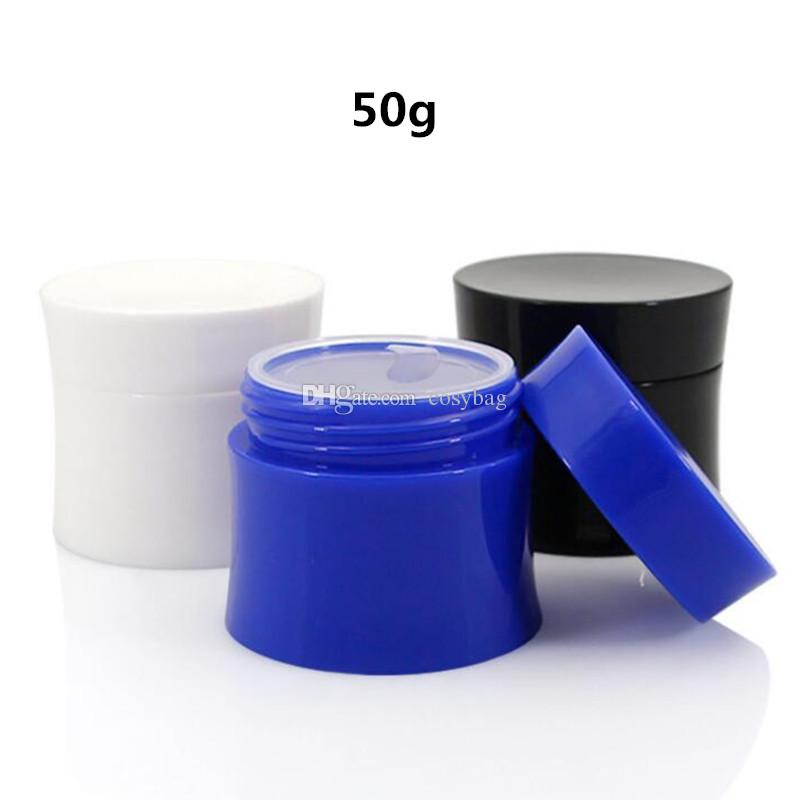 15g 30g 50g Plastic Jars Empty Cream Jar Container jar with Inner Liners Storage Makeup Cosmetic Bottle