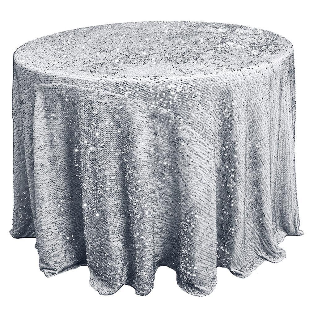 2020 Otel Masa örtüsü Katı Yuvarlak Glitter Pullu Masa Örtüsü için Noel Düğün Hotel Restaurant Banquet Dekor