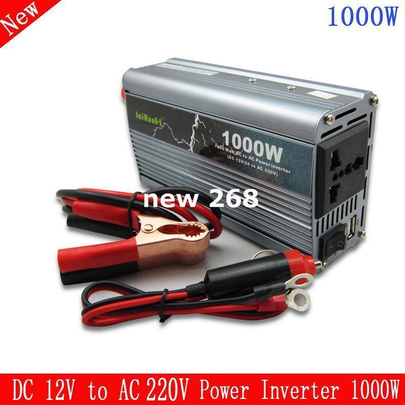 Freeshipping 1000W New arrival grid tie inverter inverter 1000 watt DC 12V to AC 220V Car Power Inverter
