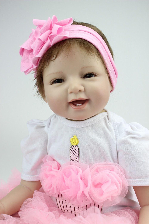 NPKCOLLECTION 55CM silicone Reborn baby realistica del bambino bambino Bonecas Kid Doll Bebes Reborn Reborn Brinquedos Giocattoli per il capretto regalo Y200111