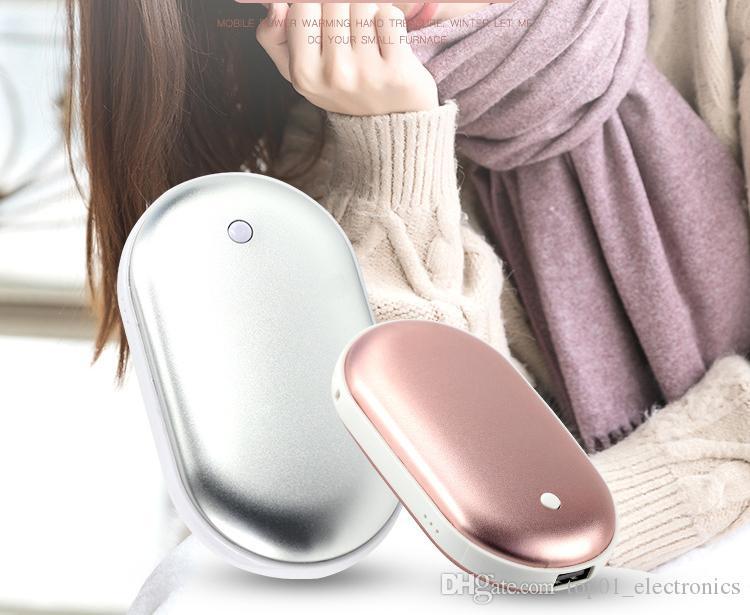 Calentador de Manos 2 en 1 con USB port/átil Recargable y 5200 mA Cloverclover pr/áctico Calentador de Mano de Bolsillo de Larga duraci/ón