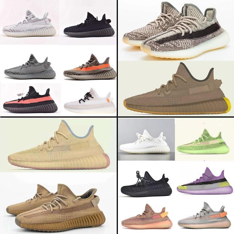 2020 kanye west v2 Sneakers 350 zyon linen cinder desert sage earth yecheil flax tailgate marsh black clay 3M reflectivv men women s7f22#