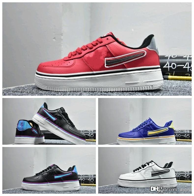 famosa marca 2019 Mais recente Running Shoes Uma Dunk MID 07 Mens flyline Sports Skateboarding Alta Baixa 1 White All Black Trainers sapatilha