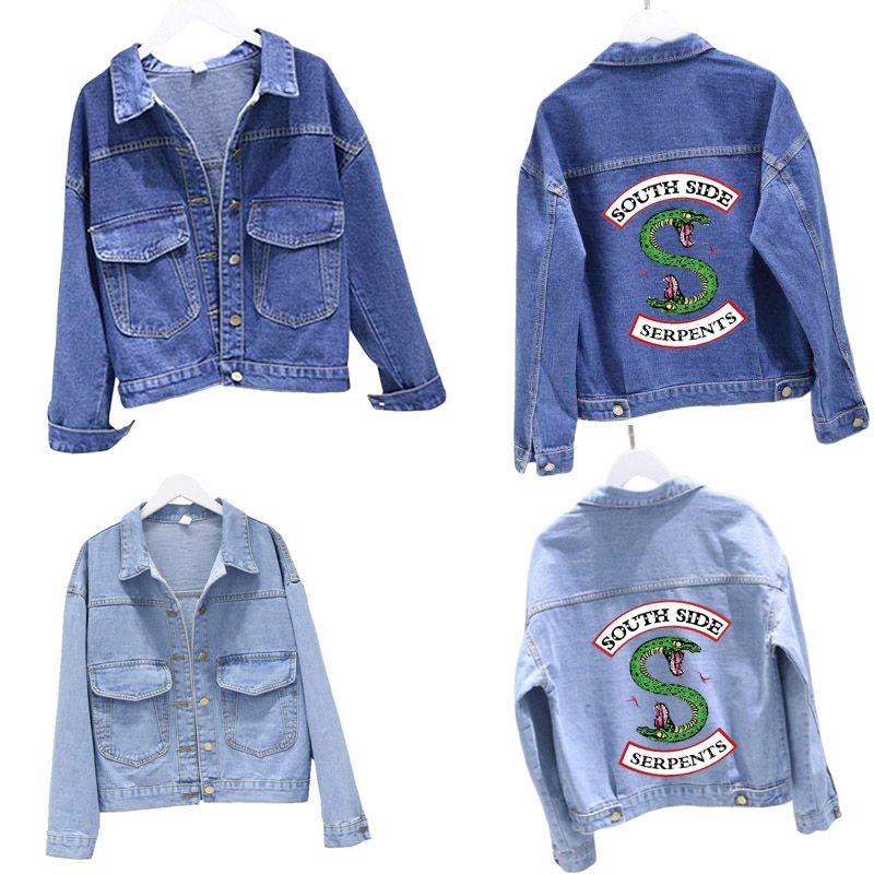 River Valley Città Giacca di jeans Riverdale giacca blu jeans blu denim Top