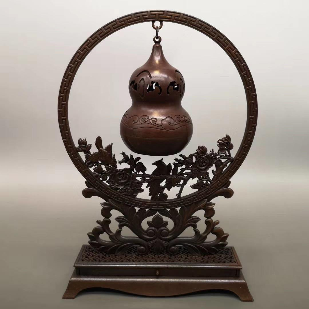 Seiko appeso fornace di rame puro Fu Lushou bruciatore di incenso di rame creativo felice fronte aromaterapia forno appeso forno appeso in rame