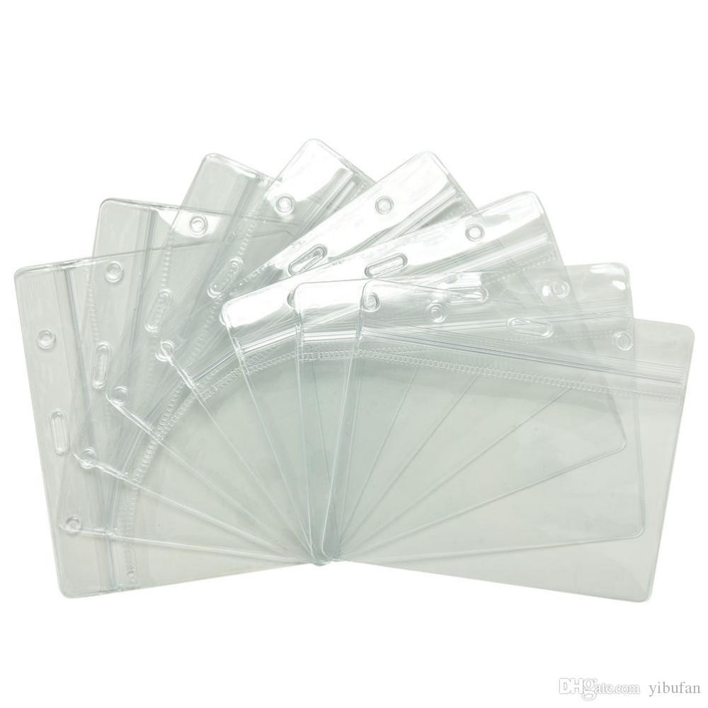 Id impermeables de tarjetas de banda titulares Bolsas de almacenamiento Sobres transparentes protectores de plástico suave blindado 60pcs / lot