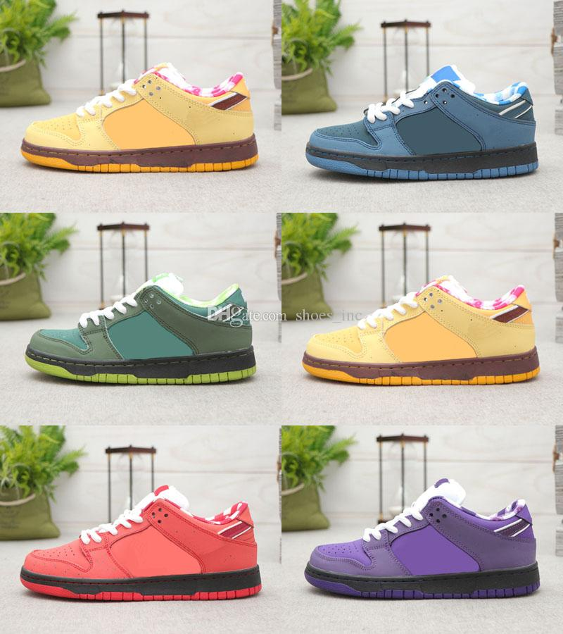 Purple Lobster Diamond Designer de mode Star Sole Chaussures de sport Concepts x SB Dunk Low Chaussures de skateboard