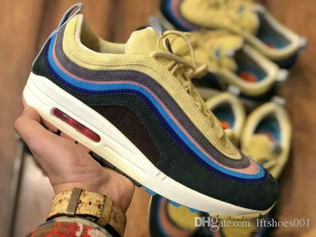 Top Sean Wotherspoon 1 97s VF SW Homens híbridos Running Shoes Mulheres Moda Sports alta qualidade Sneakers Trainers Tamanho 36-45