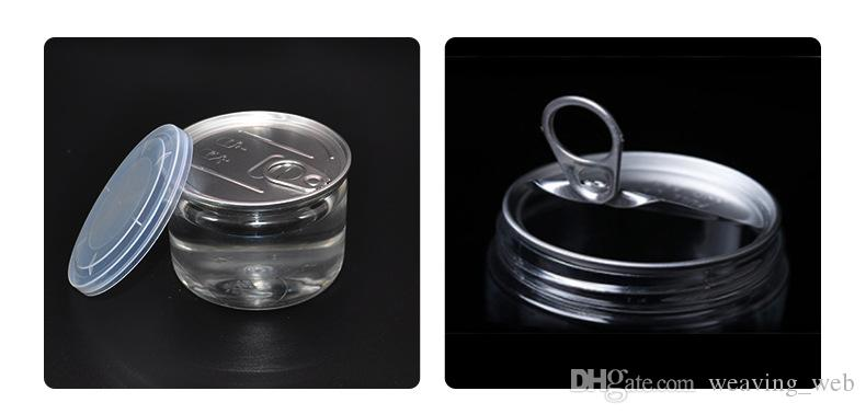 Новейший пластиковый прозрачный контейнер для хранения пищевых продуктов может 450 мл сухой травы ПЭТ легко открыть концевое кольцо тянуть язычок пустая рыба тунец жестяная банка