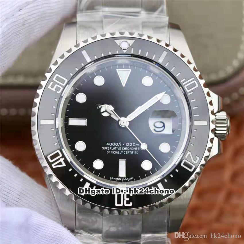 Mejor relojes N V9 43mm Fecha suiza Cal.3235 Autoamtic Movimiento del reloj para hombre 126600 Cerámica Bisel Negro Dila 904L de acero de pulsera para caballero