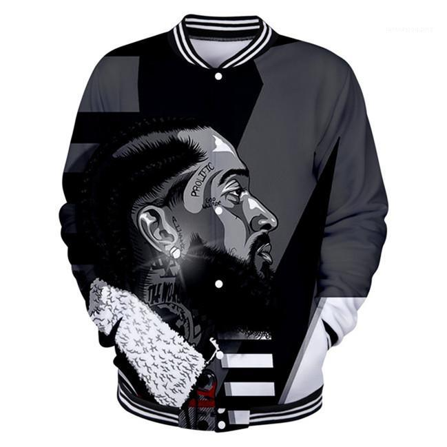Jackets Spring Zipper 3D Printed RIP Outerwear Mens Tops LilPeep Rapper Baseball Uniform Mens Clotheing Nipsey Hussle Mens