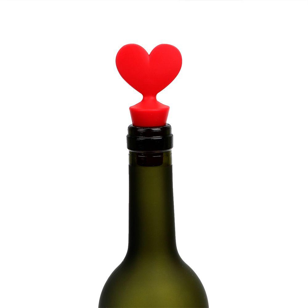 1PC Wine Bottle Sealer Cap Bar Tools Silicone Poker Shaped Wine Stoppers Wine Beer Bottle Cork Stopper Plug Leak Free