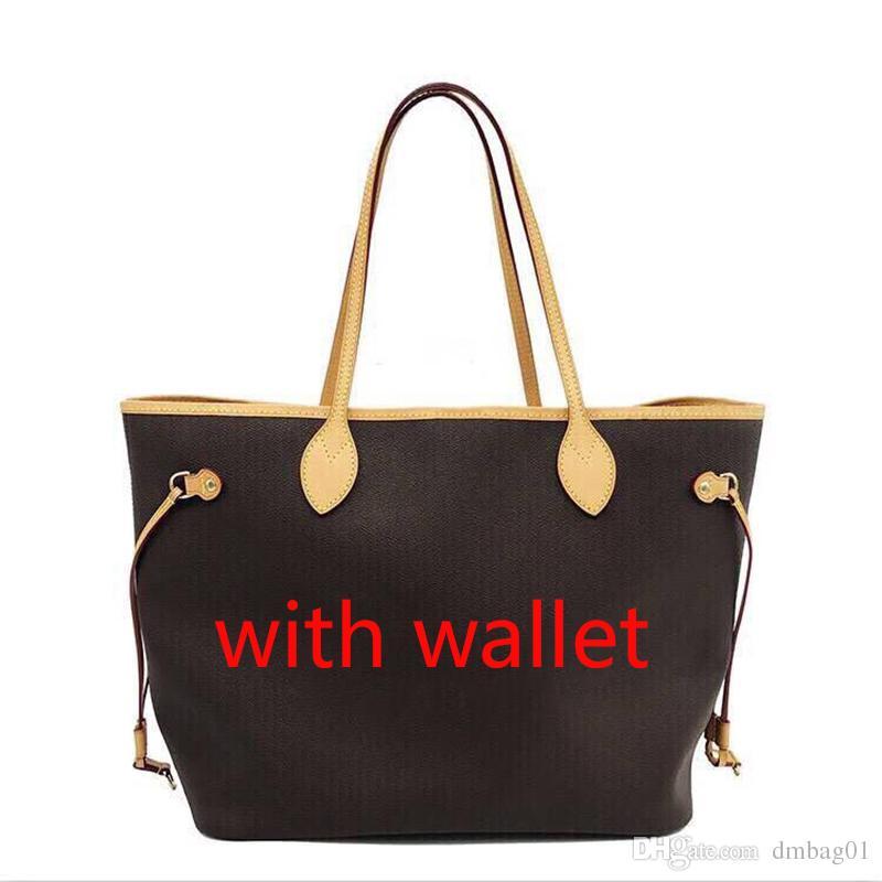 Pink sugao designer handbags tote bag genuine leather women purse print letter flower purse shoulder bag with wallet 6 color