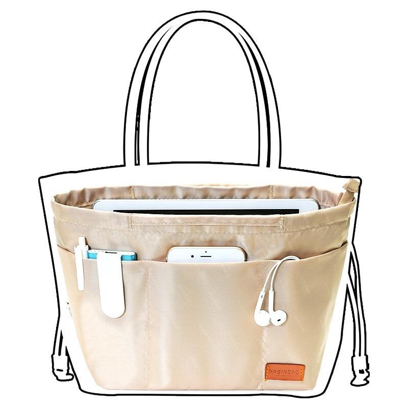 Makeup Bag Organizador Inserir Mulheres organizador cosméticos saco malas de viagem Organizador Pockets Bolsa Maleta de Maquiagem CY200518