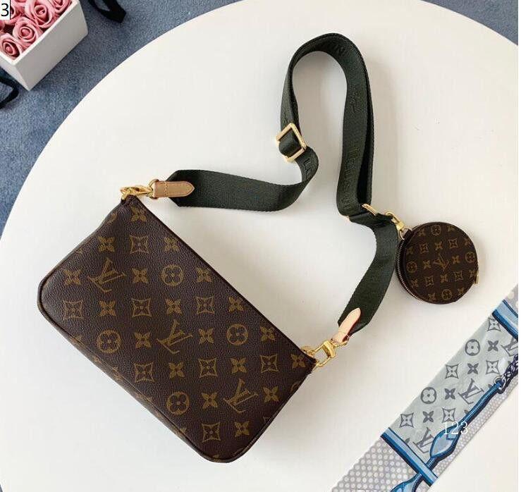 designer de 2.020 sacos de mulheres bolsa de luxo bolsa de ombro L flor 3 pcs mulheres cinta de ombro cadeia pruses saco Q4 CK6A