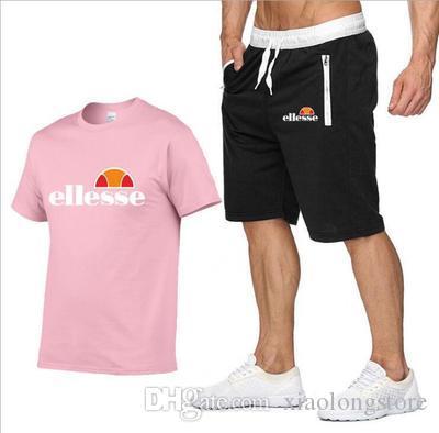 Anzug Männer 2020 Männer Kleidung Sportswear Set Fitness Sommer Drucken Männer Shorts + T-Shirt der Männer Anzug 2 Stück Sets Euro-Plus-Größe
