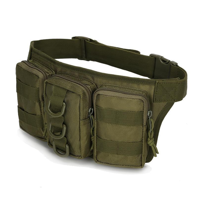 Bolsas de caza Tactical Triple Bolsa Bolsa Cinturón Bolso Sistema Molle Paquete de Fanny Senderismo Pesca Ciclismo Paquete de la cintura