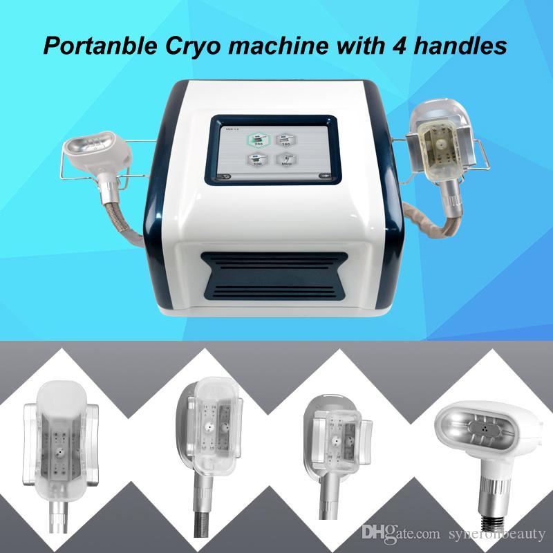 Жировые машины для замораживания машины для похудения машины для похудения прохладный снижение жира с 4 Cryo ручек 200 мм 150 мм 100 мм мини ручки