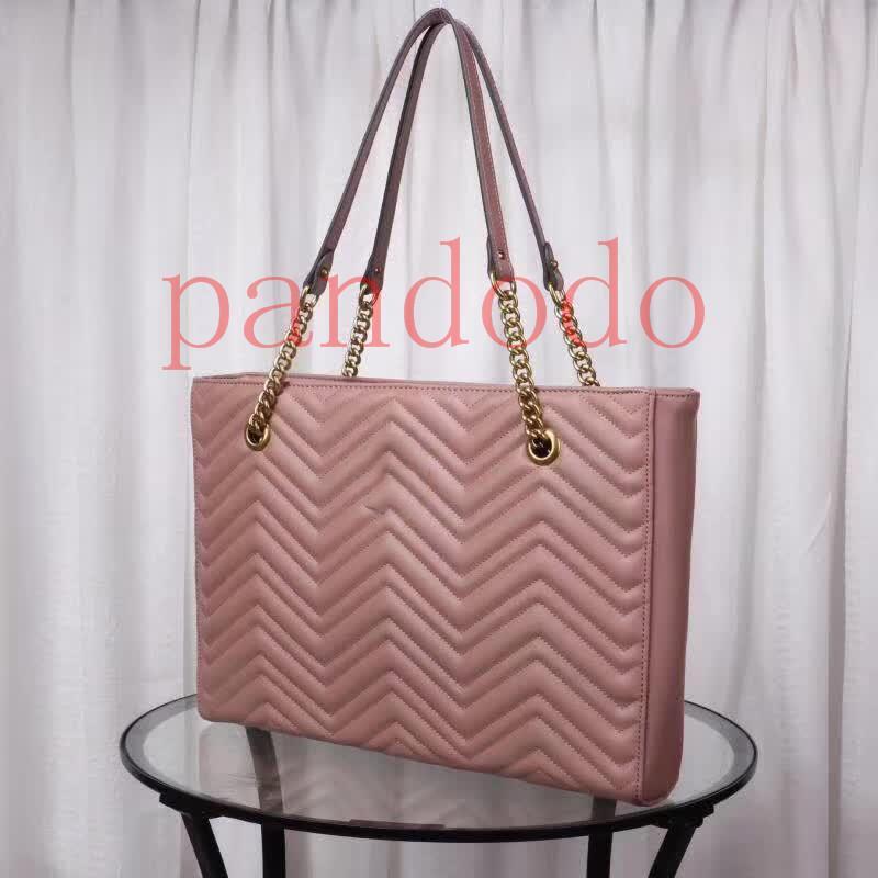 2019 lujo clásico explosivo onda de la moda de la correa del bolso de color rosa desnudo de un hombro oblicuo y Span BOLSAS bolsa de mensajero TOTES