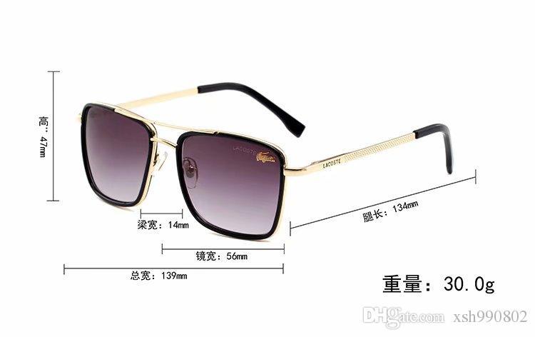 Luxury1 designer Sunglasses For Men Fashion Designer Sun Glass Oval Frame Coating Mirror UV400 Lens Carbon Fiber Legs Summer Style Eyewear