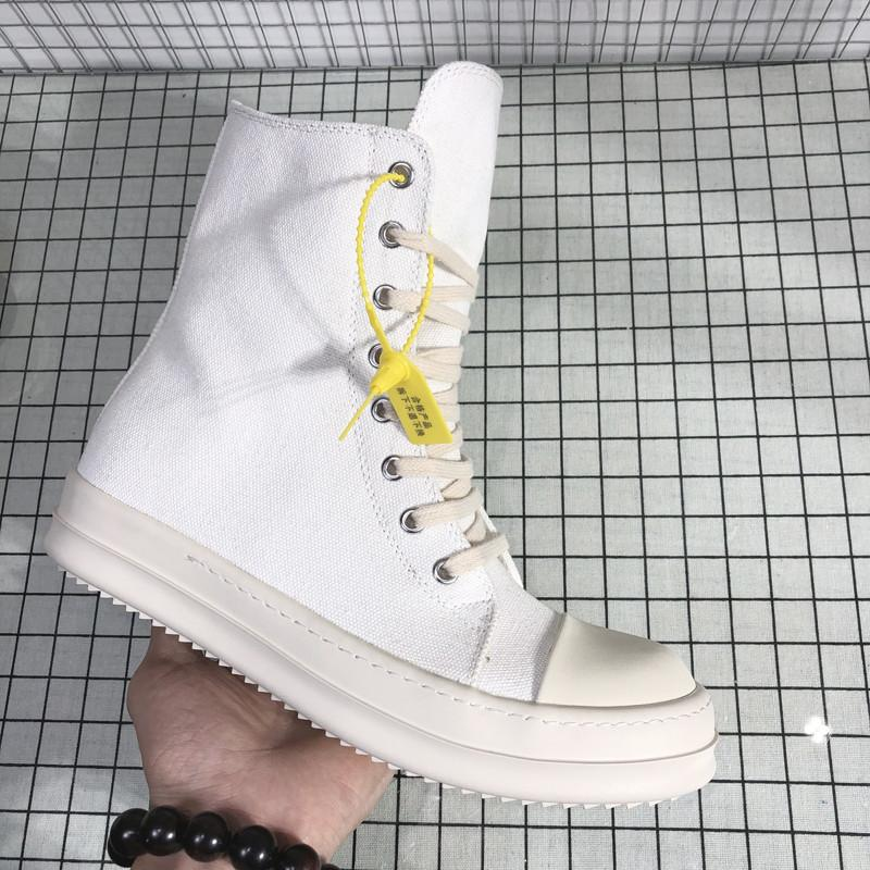 High Top Ro White Sneakers Breathable Summer Mens Canvas Shoes Casual Big Size Military Tactical Boots 8#20/20D50