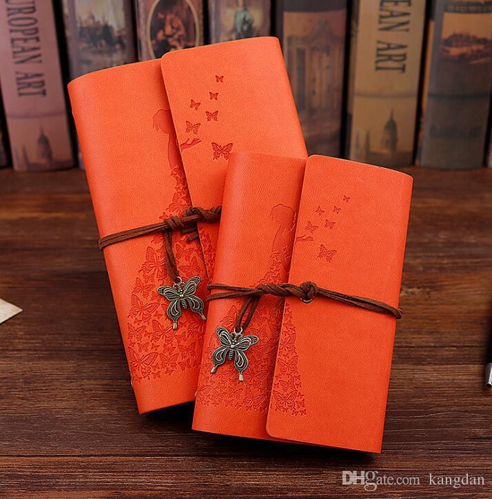 Negócios Diário Notebook Beleza Meninas Pirata Anchor Decor Viajantes Nota Livros Notepad Planejador Vintage Pu Couro Capa Em Branco Cadernos