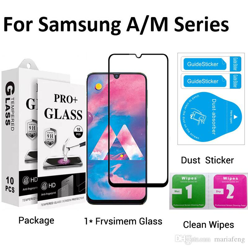 Tempered Glass For Samsung A01 A11 A21 A51 A71 Screen Protector With Package Stock DHL Free Shipping