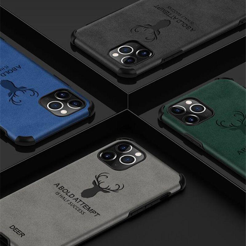 Deri iPhone için kılıf X XS durumda Ultra ince yumuşak TPU kenar darbeye iş telefonu kapak için iPhone X Max durumda Kaymaz