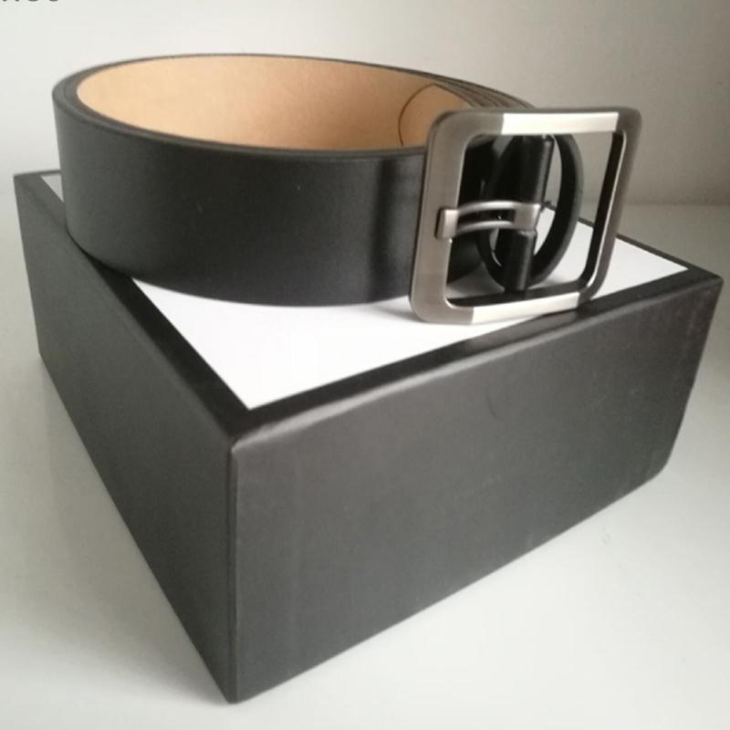 alta moda popular versión de la correa de cuero real para los amantes de la fiesta de bodas regalos de la correa de lujo de diseño casual para mujer de negocios con la caja original