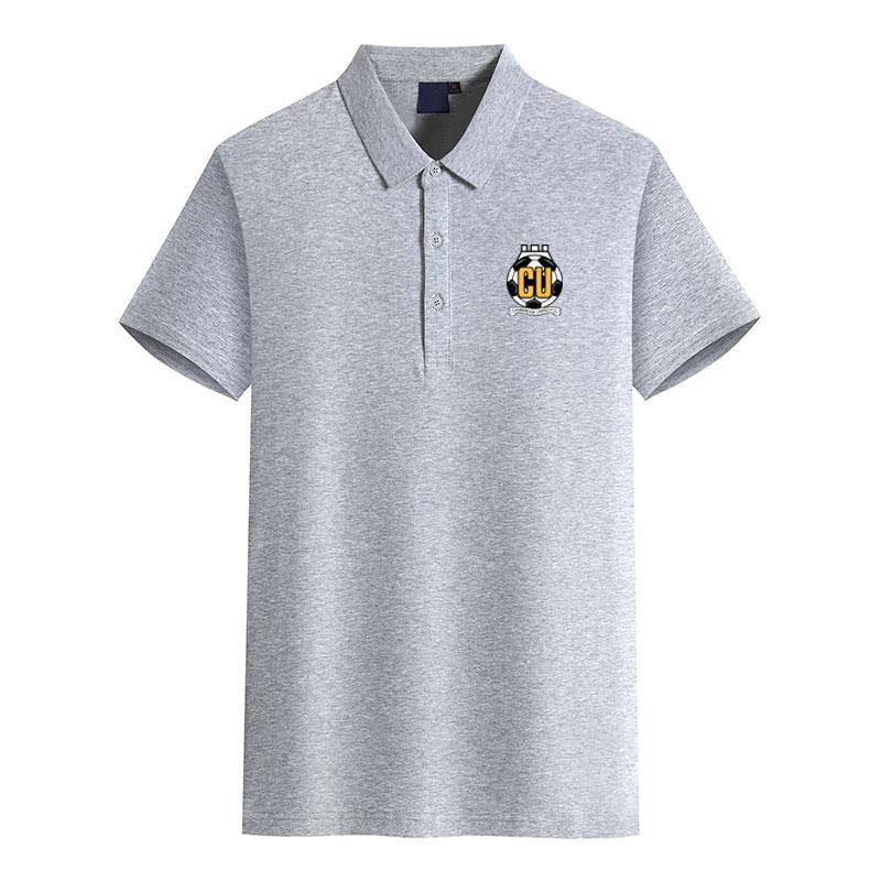 Cambridge United FC de manga corta camiseta de fútbol deportes de negocio de los hombres de color sólido verano nueva camiseta ocasional del polo puede ser DIY de polo de los hombres de tendencia