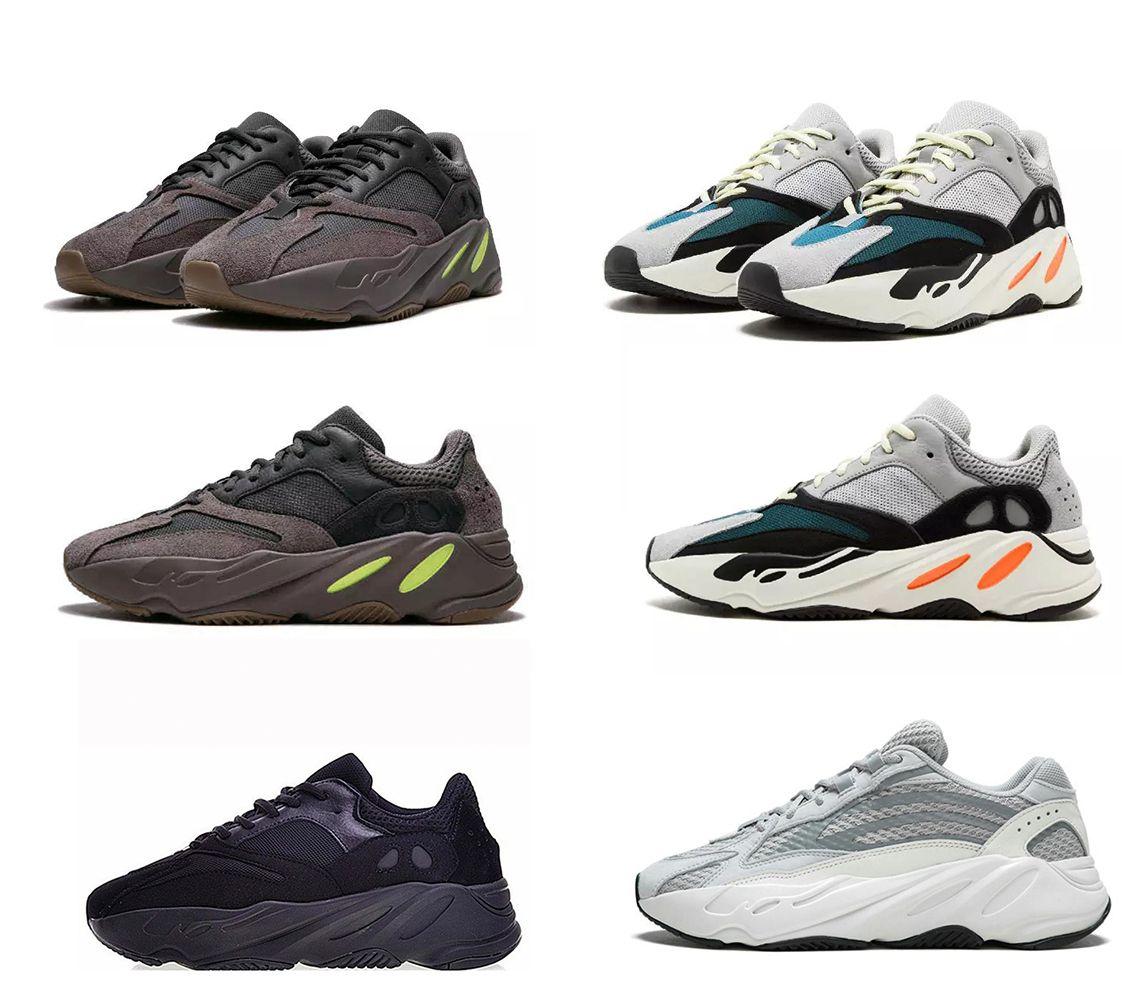 Ejecución de las zapatillas de deporte blancas grises 2020 New Carbon imán Teal Blue Wave Runner 700 Imán reflectantes mujeres de los hombres zapatillas de deporte corrientes estáticas blanco gris