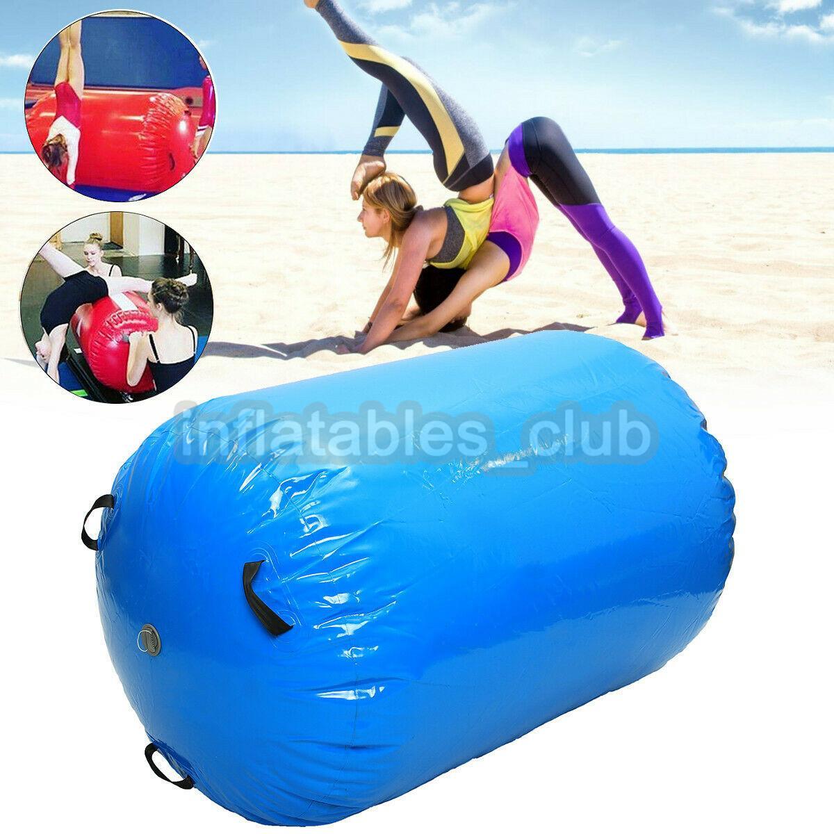 الشحن مجانا نفخ الهواء الأسطوانة للبيع 100 * 60 سنتيمتر ضياء اليوغا الرول للجمباز التدريب الملونة الهواء برميل inflatale الهواء المسار الأسطوانة