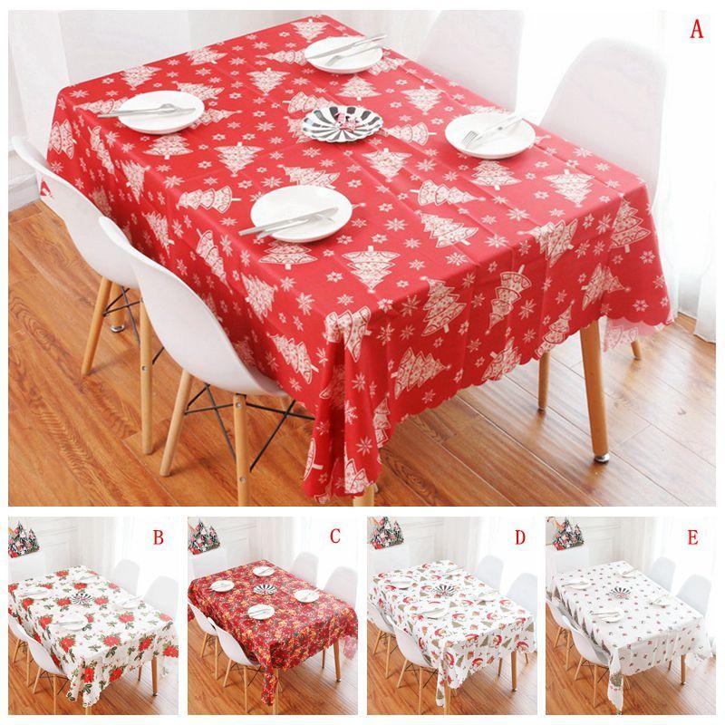 150 * 180CM الجدول عيد الميلاد القماش مفرش المائدة سانتا كلوز مطبوعة الرئيسية عيد الميلاد الديكور الجدول الجدول البوليستر القماش الزفاف DBC VT1127