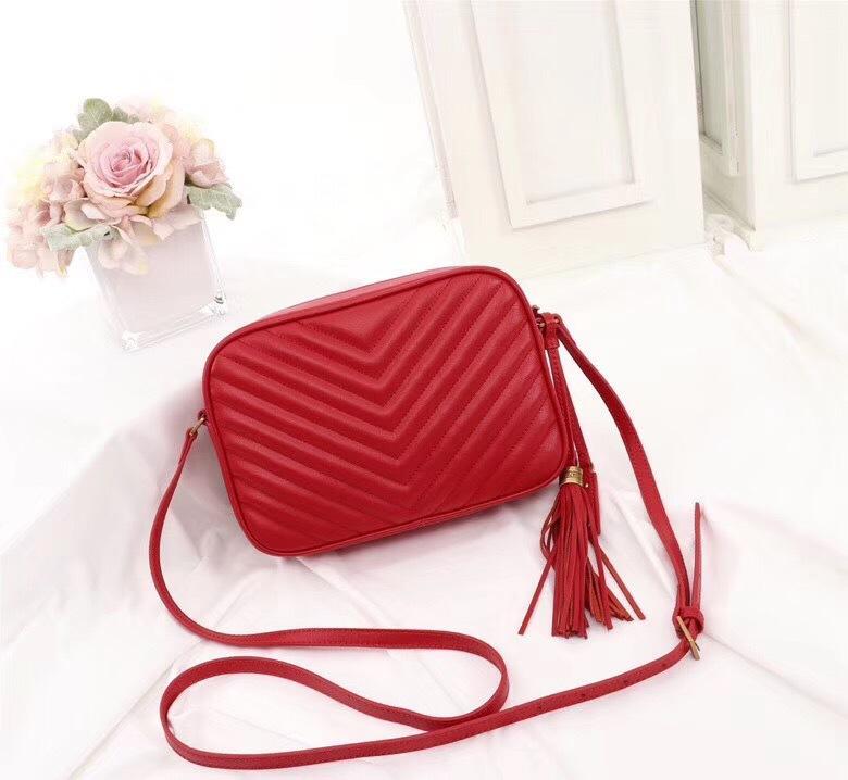 бренд моды дизайнер плеча женщин сумки натуральная кожа женские сумки Crossbody кисточкой новый стиль красный камеры мешки реального кожаные сумки