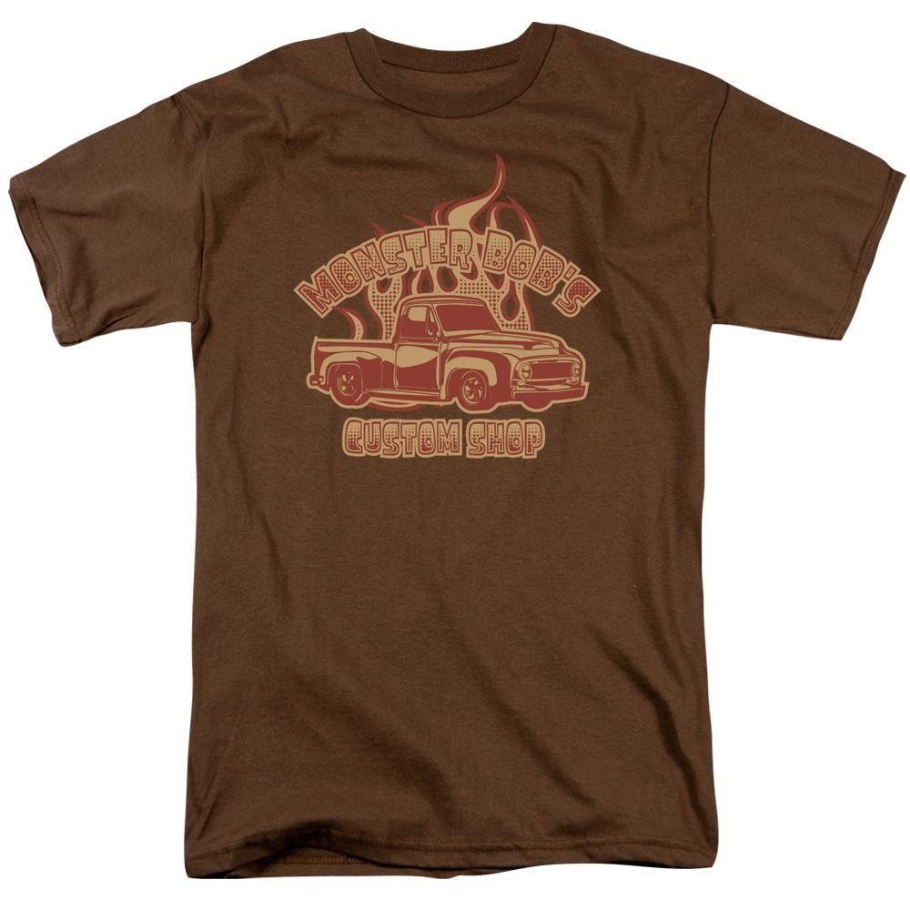 2019 print New Summer Cotton Funny T Shirts Short sleeves Monster Bob's Custom Shop Adult Regular Fit T-Shirt
