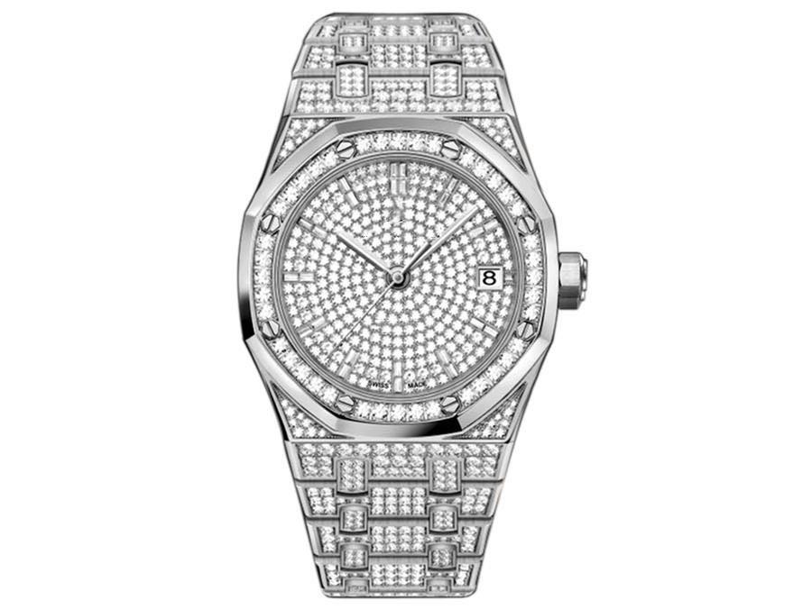 Новые высокого качество 3120 движения размера 41mmX10mm дизайнера часы часы автоматические механические часы с бриллиантами набор дрель