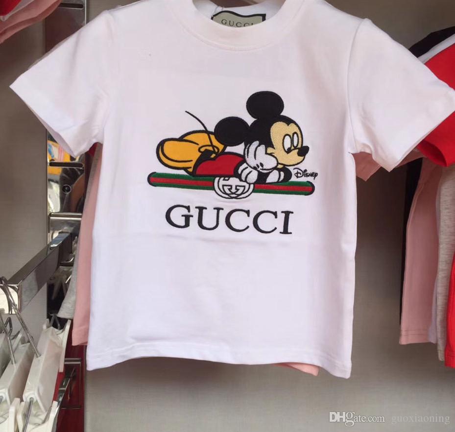 Branded cotone dei bambini delle magliette del progettista bambini SUPERA IL T Moda ragazza del ragazzo Girocollo Confortevole manica corta T-shirt