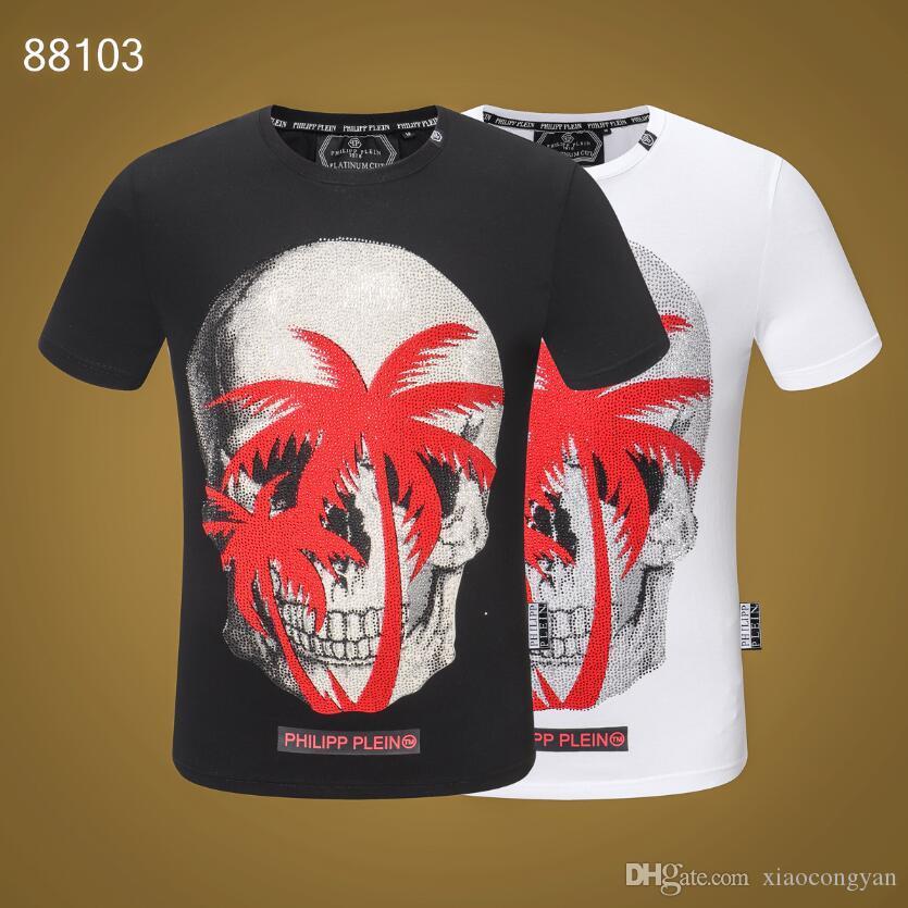 2019 New verão de algodão tshirt Cobra bordado floral forma da camisa de manga curta t Homens T-shirt Marca Men Luxo Homme # 5462139