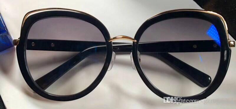 902 gafas de sol de diseñador de las mujeres de lujo 902 Estilo Moda oval Gran marco de verano color mixto, de calidad superior del objetivo de protección UV viene con la caja