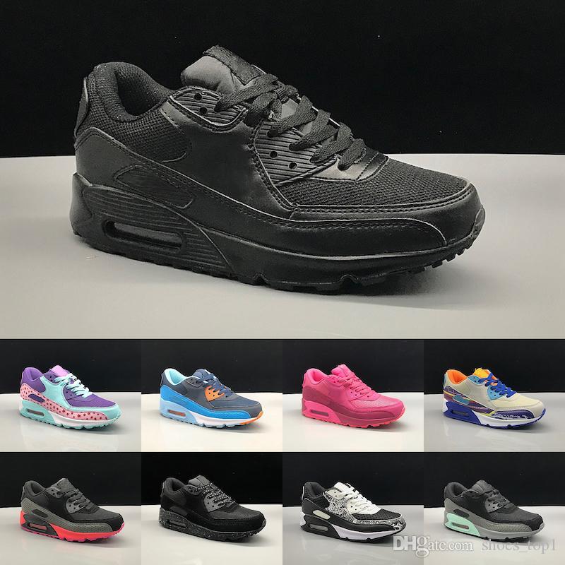 Acquista Nike Air Max 90 2019 Primavera Autunno Scarpe Bambini ...