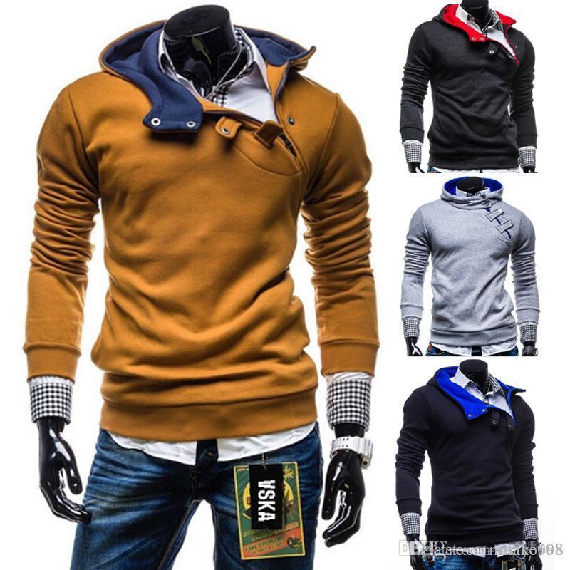 Kaşmir Hoodie hoodies beyzbol giyim ile erkekler kapüşonlu kazak ceket Uzun Kollu spor eğlence